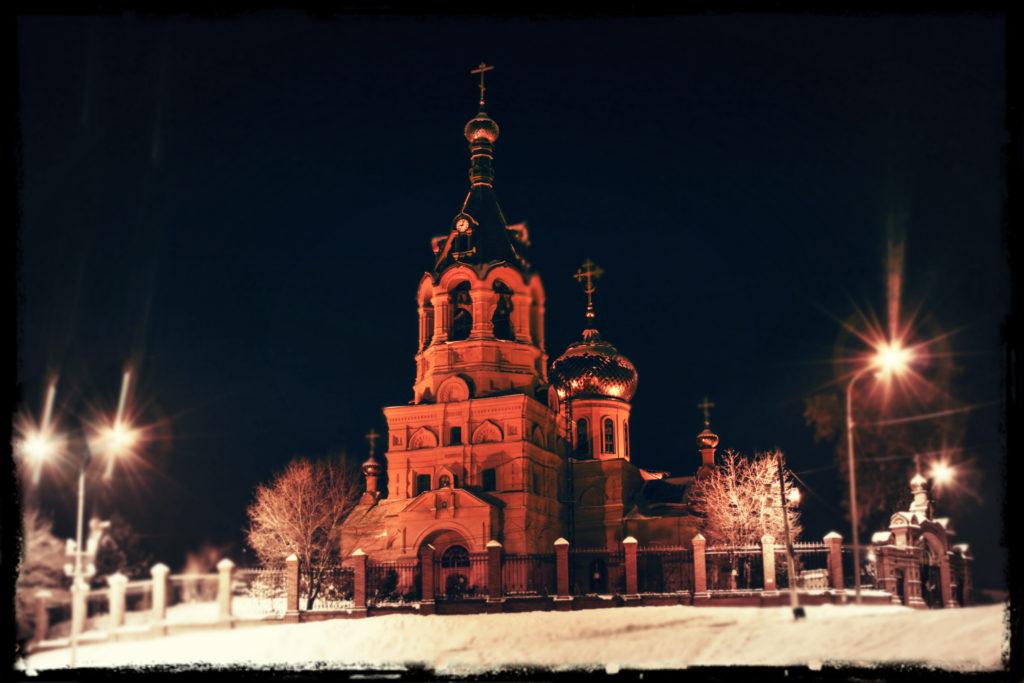 Cerkov' Borisa i Gleba v Ramenskom. Arhitekturnaya podsvetka http://svet-tm.ru
